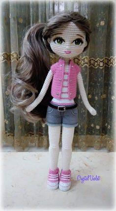 How to Crochet a Basic Doll - Crochet Ideas Crochet doll patterns - Salvabrani - Salvabrani Crochet Dolls Free Patterns, Crochet Doll Pattern, Amigurumi Patterns, Amigurumi Doll, Doll Patterns, Amigurumi Tutorial, Crochet Cactus, Cute Crochet, Easy Crochet