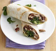 Hoisin wraps: Make this delicious, healthy take on a Peking duck wrap for a speedy snack or tasty lunch.