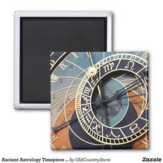 Ancient Astrology Timepiece Czech Clock. Magnet SOLD on #Zazzle