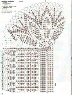 This Pin was discovered by Ash Crochet Doily Diagram, Crochet Mandala, Crochet Chart, Thread Crochet, Filet Crochet, Crochet Motif, Crochet Designs, Crochet Stitches, Crochet Table Runner