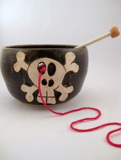 Pick Your Poison  Yarn Bowl for Chicks with Sticks by PoFu on Etsy, $45.00