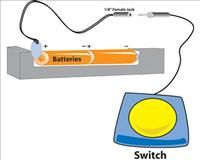 Battery Interrupters    Adapt your own toys, radios, devices!  This handy interrupter allows you to use any of our switches with battery operated unadapted toys or devices. The Battery Interrupter is easy to install. Works with most battery operated devices that have an on/off switch.