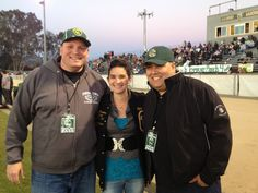 With Domenica and Gabe at a Casa Grande football game