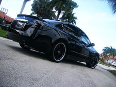 blacked out Nissan Altima