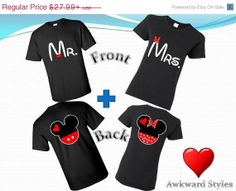 Valentines day, Mr & Mrs and Mickey Minnie Disney COUPLE tshirts.S-5XL. Mickey Mouse and Minnie Mouse inspired shirt.Gift for Soulmate ,love