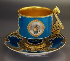 19th century Russian Imperial Porcelain                                                                                                                                                     Mais