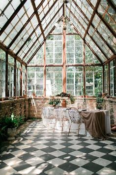 Greenhouse Atrium – Home Decor Exterior Greenhouse Plans, Greenhouse Gardening, Greenhouse House, Greenhouse Wedding, Cheap Greenhouse, Indoor Greenhouse, Pallet Greenhouse, Gardening Books, Garden Wedding