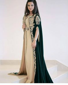 Moroccan caftan sale with cape 2019 Moroccan caftans Morrocan Dress, Moroccan Caftan, Abaya Fashion, Fashion Dresses, Fashion Fashion, Cheap Evening Dresses, Formal Dresses, Estilo Abaya, Abaya Mode
