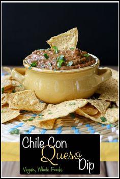 Vegan Chile Con Queso Dip | www.veggiesdontbite.com | #vegan #plantbased #wholefoods #mexican #superbowl