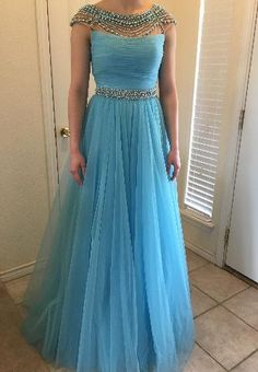 A-line Long Prom Dress with Beading Semi Formal Dresses Wedding Party – Promtailor Formal Dresses Long Elegant, Formal Dresses For Weddings, Indian Wedding Gowns, Indian Gowns Dresses, Long Gown Dress, Long Prom Gowns, Sherri Hill Prom Dresses, Prom Party Dresses, Frock For Teens