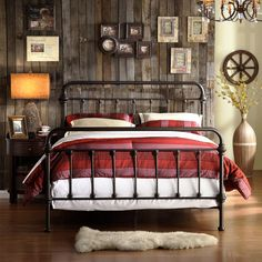 $297 queen size Weston Home Nottingham Metal Spindle Bed | from hayneedle.com
