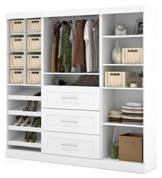 Beautiful Winsome Halifax Cabinet for Closet Office 5 Drawers White