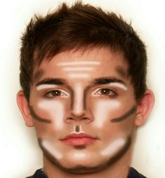 I saved this for Fiyero, because his makeup is pretty basic stage makeup. He needs good contouring to help his features pop on stage. Male Makeup, Sfx Makeup, Cosplay Makeup, Contour Makeup, Costume Makeup, Makeup Tips, Beauty Makeup, Male Contour, Basic Makeup