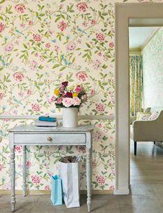 Porcelain Garden Magenta/Leaf Green DCAVPO106 - Seinäruusu - Verkkokauppa