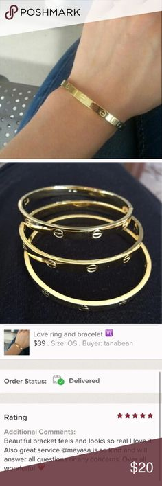 ❤️sale buye two for 20 ❤️New live screw bracelet New love gold screw bracelet Jewelry Bracelets