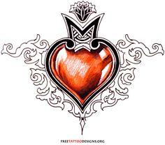 Free Love Heart Tattoo Designs - Tattoo's Imagine