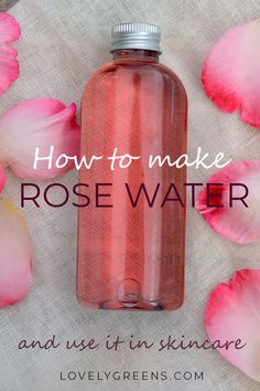 Instructions on how to make rose water using fresh rose petals. Use directly on … Instructions on how to make rose water using fresh rose petals. Use directly on your skin as a natural toner or blend it with oils to create creams and lotions DIY Skin Care Natural Toner, Piel Natural, All Natural Skin Care, Diy Natural Deodorant, Diy Deodorant, Natural Shampoo, Organic Skin Care, Natural Oils, Fresh Rose Petals