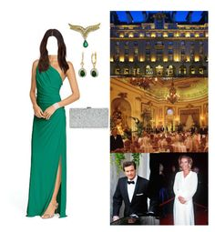 """*Flashback* Attending the Pre-Wedding Gala of HM King James III and Dr. Evangeline Rockefeller at the Ritz in London with her parents"" by princessofleinster ❤ liked on Polyvore featuring Ralph Lauren, Milly and Firth"