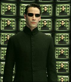 "Neo's real life name in ""The Matrix"" is Thomas A. Saga, Keanu Reeves Movies, The Wachowskis, The Matrix Movie, Man In Black, Matrix Reloaded, Carrie Anne Moss, Hugo Weaving, Fiction Movies"