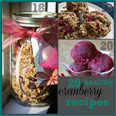 Here are some favorite healthy cranberry recipes to share for cranberry season, Thanksgiving and Christmas. I love that they are super good for you!