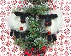 Ravelry: Christmas Sheep Ornaments pattern by ViolaSueKnits