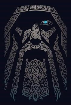 Odin Art Viking, Viking Warrior, Asatru, Odin Norse Mythology, Viking Symbols, Odin Allfather, Odin Symbol, Tatoo, Thor Tattoo