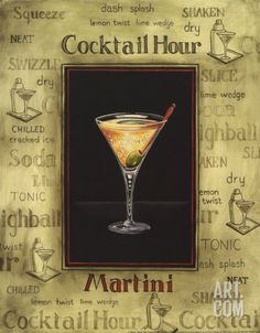 Martini Art Print by Gregory Gorham at Art.com