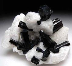 Schorl with Orthoclase var Tourmanline (Sodium Iron Aluminum Boro-silicate Hydroxide)