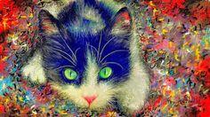 PCペイントで絵を描きました! Art picture by Seizi.N:   :幻想的で美しいネコの絵を描いてみました。  本日マイケル・ブーブル、本人から連絡がが来たので、このネコの絵を送り、音楽紹介も彼の歌を紹介します。 Michael Buble - Always On My Mind - Lyrics http://youtu.be/iSI8TSl17Gc