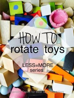 How to Rotate Toys, part of Less Toys. More Play. series Have you considered to start rotating your children's toys but you get overwhelmed and don't know where to start? Use this toy rotation system! Toddler Play, Baby Play, Toddler Preschool, Montessori Toddler, Infant Activities, Activities For Kids, Crafts For Kids, Motor Activities, Activity Ideas