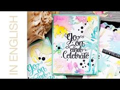 Watercolor die cuts and backgrounds. Video | Yana Smakula. My Cardmaking & Scrapbooking