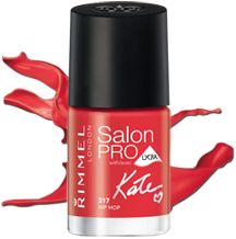 Rimmel London Salon Pro With Lycra by Kate nail polish in Hip Hop is the superglossy red polish we'll be rocking all summer Red Polish, Best Nail Polish, Kate Moss, Rimmel London, Women Life, Nails Inspiration, You Nailed It, Nail Colors, Salons