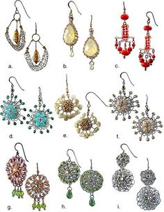 pretty, pretty #earrings #diy #beading #crafts #jewelry