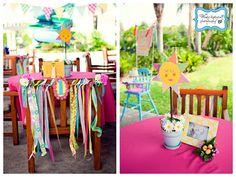 pink and yellow themed birthday party