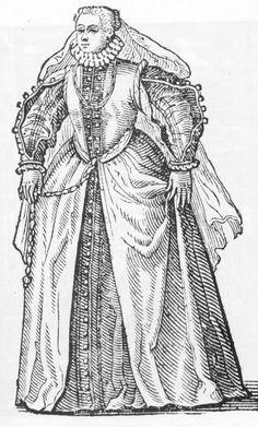 Cesare Vecellio, 1585-90, Reproduced by Dover Books as Vecellio's Renaissance Costume Book Noblewoman from Cividale