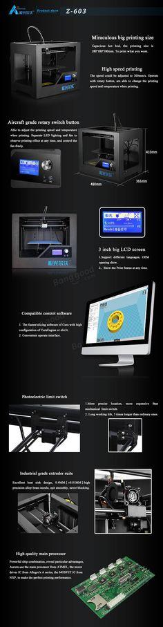 Z603S JGAurora CNC Touch Screen Display Desktop 3D Printer Sale-Banggood.com