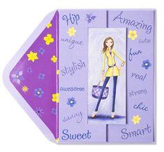 Bella+Pilar+Day+Mom,+Night+Mom+Price+$5.95 Greeting Cards, Invitations, Mom, Night, Happiness, Illustration, Girls, Toddler Girls, Bonheur