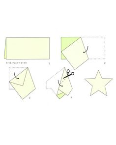 1000 images about paper star on pinterest paper stars for How to cut a perfect star
