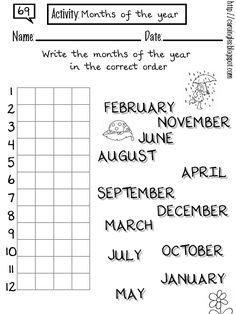 Carolina, mi página de inglés (Actividades): 69. Months of the year