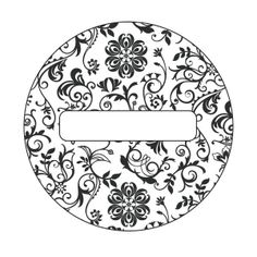Free Printable Black & White #Demask Lid Labels for Can-It-Forward Day from @Ball® Canning  Print this design on OnlineLabels.com item numbers OL325 & OL350