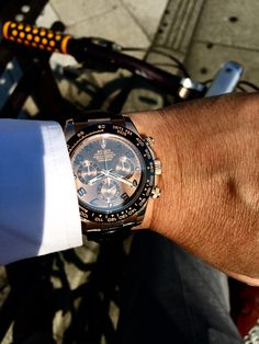 Rose gold chocolate dial Rolex Daytona Watch, Breitling, Bespoke, Rose Gold, Watches, Chocolate, Big, Accessories, Wrist Watches