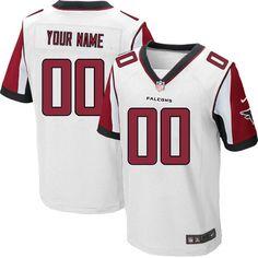 Nike Elite White Men's Jersey - Customized Atlanta Falcons NFL Road