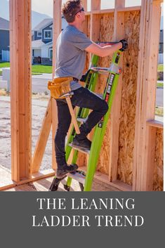 The Leaning Ladder Trend - Ladder Safety Hub Leaning Ladder, Ladders, Latest Trends, Safety, Tips, Blog, Design, Style, Stairs