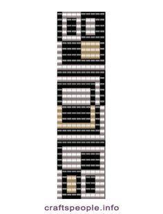 Схема браслета Квадро | biser.info - всё о бисере и бисерном творчестве