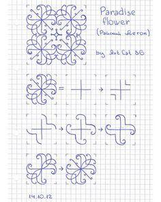 Ideas for drawing ideas easy flowers zentangle patterns Doodles Zentangles, Tangle Doodle, Tangle Art, Zentangle Drawings, Doodle Drawings, Doodle Art, Easy Zentangle, Easy Drawings, Blackwork