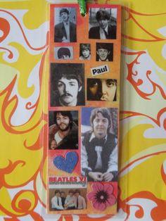 Paul McCartney Handmade Collage Bookmark by Pepperland on Etsy