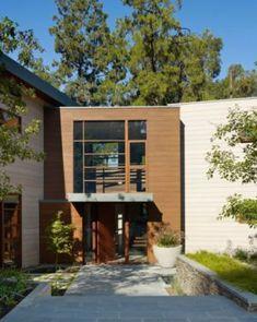 Entrée - Mandeville Canyon Residence par Rockefeller Partners Architects - Los Angeles, Usa - photo Eric Staudenmaier