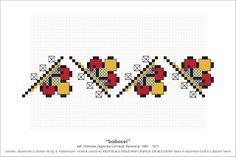 Romanian folk motifs. Creative Embroidery, Folk Embroidery, Cross Stitch Bird, Cross Stitch Borders, Needlepoint Designs, Ribbon Art, Needlework, Print Design, Diy And Crafts