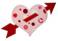 heart with arrow applique design from applique mom