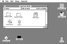 Mac System! We had desktop and icons since day one :)